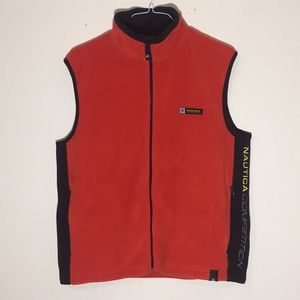 Vintage 1990s Nautica Competition Fleece Vest